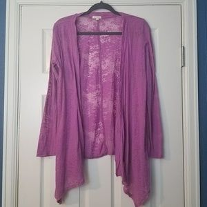 Love Couture Women's Purple Cardigan Size Large
